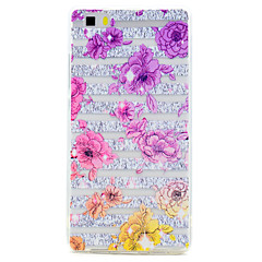 Для Прозрачный С узором Кейс для Задняя крышка Кейс для Цветы Мягкий TPU для HuaweiHuawei P10 Plus Huawei P10 Huawei P8 Lite Huawei P8