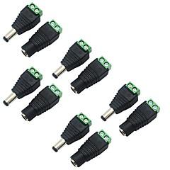 CCTVセキュリティカメラのための女性のDC電源ジャックアダプタコネクタプラグに5パック5.5×2.1ミリメートルのバレル・パワー12Vの男性は、ストリップを率い