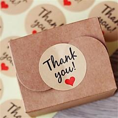 10sheet / 120pcs nátronpapír köszönöm ajándék címkék esküvői támogatja party kellékek karácsonyi diy zsákvászon esküvői évjárat esküvői