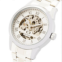 お買い得  メンズ腕時計-男性用 ファッションウォッチ クォーツ ステンレス バンド ハンズ カジュアル シルバー - ゴールド / ホワイト ブラック / シルバー ホワイト / シルバー