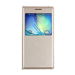 Χαμηλού Κόστους Galaxy A3 Θήκες / Καλύμματα-tok Για Samsung Galaxy A5(2017) A3(2017) με παράθυρο Αυτόματη αδράνεια / αφύπνιση Ανοιγόμενη Πλήρης Θήκη Συμπαγές Χρώμα Σκληρή PU δέρμα