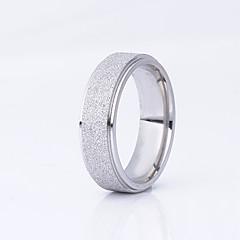 preiswerte Ringe-Damen Eheringe - Edelstahl, vergoldet Grundlegend 6 / 7 / 8 Schwarz / Silber / Champagner Für Hochzeit / Party / Besondere Anlässe