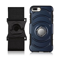 tanie Etui do iPhone 6s-Kılıf Na Apple iPhone 7 Plus iPhone 7 Z podpórką Uchwyt pierścieniowy Opaska Opaska na ramię Solid Color Twarde PC na iPhone 7 Plus
