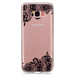 tanie Galaxy S4 Mini Etui / Pokrowce-Kılıf Na Samsung Galaxy S8 Plus S8 IMD Przezroczyste Wzór Etui na tył Koronka Printing Miękkie TPU na S8 S8 Plus S5 Mini S4 Mini