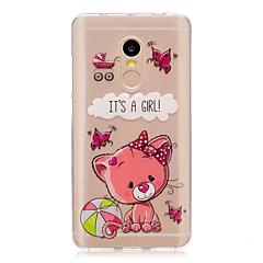 Для xiaomi redmi примечание 4 примечание 3 3s крышка случая мультфильм медведь рисунок задняя сторона обложка soft tpu красныйmi