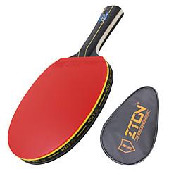 Ping Pang/الجدول مضارب تنس Ping Pang خشب مقبض طويل البثور 1 المضرب 1 حقيبة تينس الطاولةZTON