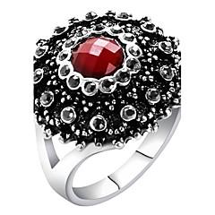 preiswerte Ringe-Damen Statement-Ring Ring - Glas, Aleación Erklärung, Personalisiert, Luxus 7 / 8 / 9 / 10 Rot / Grün / Blau Für Party Jahrestag Geburtstag