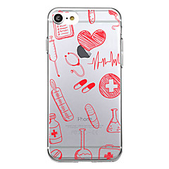 voordelige iPhone 6 Plus hoesjes-hoesje Voor Apple iPhone X iPhone 8 Ultradun Patroon Achterkant Tegel Zacht TPU voor iPhone X iPhone 8 Plus iPhone 8 iPhone 7 Plus iPhone