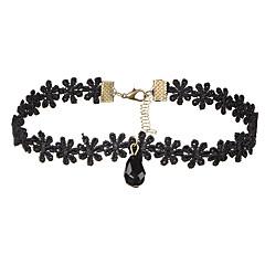 preiswerte Halsketten-Damen Halsketten - Spitze Tropfen Anhänger Stil, Grundlegend Schwarz Modische Halsketten Für Hochzeit, Jahrestag, Geburtstag