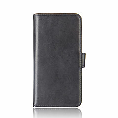 Для xiaomi redmi примечание 4x mi 6 держатель карты бумажник флип-чехол полный корпус корпус сплошной цвет твердый натуральная кожа для