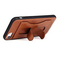 Недорогие Кейсы для iPhone 7-Кейс для Назначение iPhone 7 Plus IPhone 7 Apple Бумажник для карт со стендом Кейс на заднюю панель Сплошной цвет Твердый Настоящая кожа