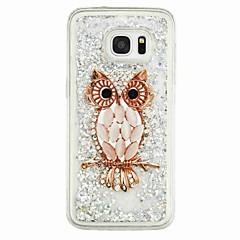 olcso Galaxy S6 tokok-Case Kompatibilitás Samsung Galaxy S7 edge S7 Folyékony Minta Fekete tok Bagoly Puha TPU mert S7 edge S7 S6 edge S6 S5