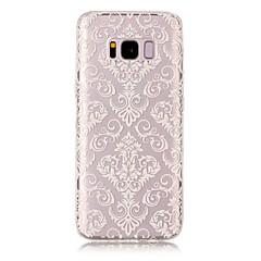 halpa Galaxy S6 Edge kotelot / kuoret-Etui Käyttötarkoitus Samsung Galaxy S8 Plus S8 IMD Läpinäkyvä Kuvio Takakuori Lace Printing Pehmeä TPU varten S8 S8 Plus S7 edge S7 S6