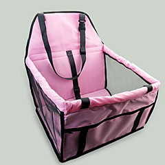 Katze Hund Auto Sitzbezug Dog-Pack Haustiere Träger Tragbar Doppel-seitig Atmungsaktiv Klappbar Massage Weich Zelt Solide Grau Rosa