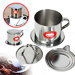 100 ml Rozsdamentes acél Kávés szűrő , Brew kávé Készítő Újrahasznosítható A kupa állvány Útmutató