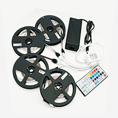 ZDM 20M(4*5M) 96W 1200LEDs 2835 RGB Strip Flexible Light and 44Key IR Remote Controller Kit 12V 8A Power Supply AC110-240V
