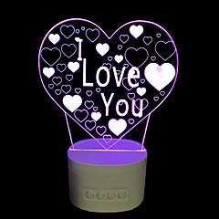 preiswerte Ausgefallene LED-Beleuchtung-Nächtliche Beleuchtung LED Tischlampen-2W-USB Abblendbar Farbwechsel mit Horn - Abblendbar Farbwechsel mit Horn