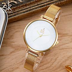 お買い得  大特価腕時計-SK 女性用 ブレスレットウォッチ 日本産 クォーツ シルバー / ゴールド 30 m 耐水 クリエイティブ 耐衝撃性 ハンズ レディース チャーム ぜいたく ヴィンテージ カジュアル - ゴールド シルバー