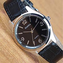 Χαμηλού Κόστους Γυναικεία ρολόγια-Ανδρικά Γυναικεία Χαλαζίας Ρολόι Καρπού Δέρμα Μπάντα Μοντέρνα Μαύρο Καφέ