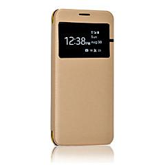 Kılıf Na Samsung Galaxy S8 Plus S8 Z okienkiem Flip Półprzezroczyste Futerał Solid Color Twarde Sztuczna skóra na S8 Plus S8 S7 edge S7