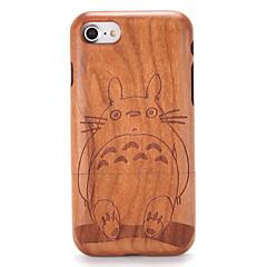 Недорогие Кейсы для iPhone 7-Кейс для Назначение Apple iPhone 7 Plus iPhone 7 С узором Рельефный Кейс на заднюю панель Имитация дерева Мультипликация Твердый