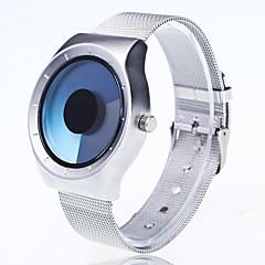 preiswerte Tolle Angebote auf Uhren-Herrn Quartz Armbanduhr Chinesisch Großes Ziffernblatt Metall Band Kreativ Freizeit Einzigartige kreative Uhr Modisch Silber