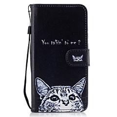 Для Кошелек Бумажник для карт со стендом Флип С узором Кейс для Чехол Кейс для Кот Твердый Искусственная кожа для HuaweiHuawei P9 Lite