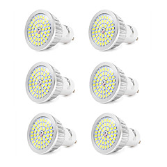 cheap LED Bulbs-6pcs 7W 550-600lm GU10 LED Spotlight 48 LED Beads SMD 2835 Cold White 110-240V