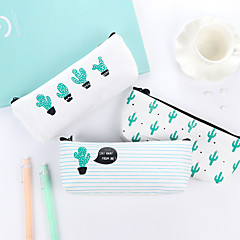 Cactus Pattern Canvas Stationery Bag 1 PCS