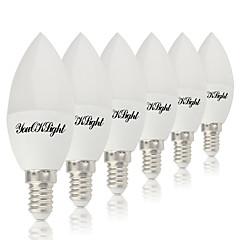 4W E14 E12 Luzes de LED em Vela 10 leds SMD 5730 Branco Quente Branco Frio 320lm 3000/6000K AC 85-265V