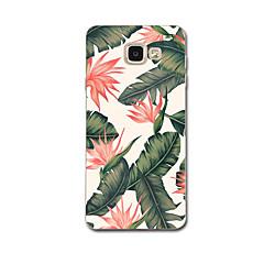 olcso Galaxy A7 tokok-Case Kompatibilitás Samsung Galaxy A7(2017) A3(2017) Ultra-vékeny Minta Fekete tok Virág Puha TPU mert A3 (2017) A7 (2017) A5(2016) A8 A7