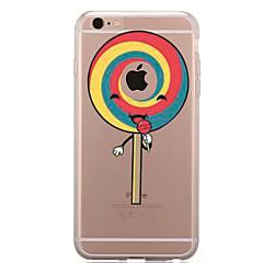 Недорогие Кейсы для iPhone 5с-Кейс для Назначение Apple iPhone 7 Plus iPhone 7 Прозрачный С узором Кейс на заднюю панель Композиция с логотипом Apple Продукты питания
