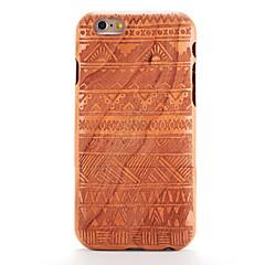Недорогие Кейсы для iPhone 6-Кейс для Назначение iPhone 6s / iPhone 6 / Apple Рельефный / С узором Кейс на заднюю панель Имитация дерева / Геометрический рисунок Твердый деревянный для iPhone 6s / iPhone 6