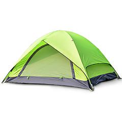 2 사람 텐트 더블 베이스 접이식 텐트 원 룸 캠핑 텐트 유리 섬유 옥스포드 방수 휴대용-하이킹 캠핑-