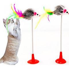 قط لعبة للقطة ألعاب الحيوانات الأليفة متفاعل مضايقات مضاعف قماش بلاستيك للحيوانات الأليفة