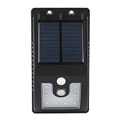 1kpl ulkona aurinkoenergialla 10 SMD LEDit liiketunnistimen seinä valo puutarha lamppu