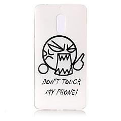 olcso Nokia tokok-Mert tokok Átlátszó Minta Dombornyomott Hátlap Case Rajzfilmfigura Szó / bölcselet Puha TPU mert Nokia Nokia 6