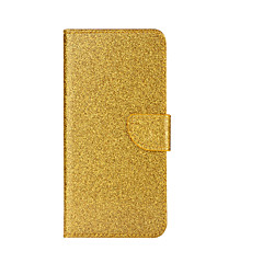 Недорогие Чехлы и кейсы для Xiaomi-Кейс для Назначение Xiaomi Бумажник для карт Кошелек со стендом Флип Чехол Сияние и блеск Твердый Кожа PU для Xiaomi Mi 5s