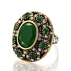 お買い得  指輪-女性用 ステートメントリング 指輪  -  樹脂, 合金 ステートメント, オリジナル, ぜいたく 7 / 8 / 9 / 10 ブラック / レッド / グリーン 用途 パーティー 記念日 誕生日