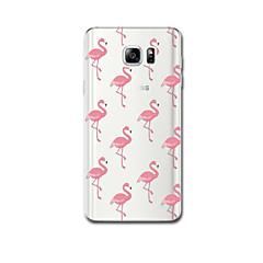 Для Чехлы панели Ультратонкий С узором Задняя крышка Кейс для Фламинго Мягкий TPU для Samsung Note 5 Note 4 Note 3