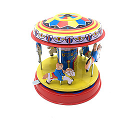 Wind-up Toy Toys Cylindrical Horse Carousel Iron Metal 1 Pieces Children's Gift