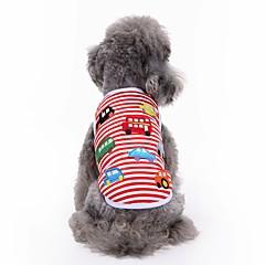 お買い得  犬用ウェア&アクセサリー-ネコ 犬 Tシャツ ベスト 犬用ウェア 刺しゅう レッド コットン コスチューム ペット用 男性用 女性用 キュート カジュアル/普段着 ファッション