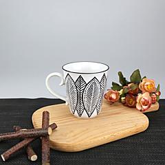minimalizm Impreza Szklanki, 250 ml Prosty geometryczny wzór Wielokrotnego użytku Porcelana Herbata OdsłonięteZwykłe akcesoria do napojów