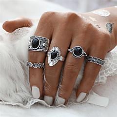 お買い得  指輪-女性用 指輪 リングセット  -  王女, フラワー 幾何学図形, ユニーク, クラシック ワンサイズ ゴールド / シルバー 用途 クリスマスギフト 結婚式 パーティー / 5個
