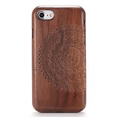 Недорогие Кейсы для iPhone 7-Кейс для Назначение Apple iPhone 7 Plus iPhone 7 С узором Рельефный Кейс на заднюю панель Имитация дерева Мандала Твердый деревянный для