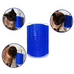 お買い得  犬用品-ネコ 犬 ブラシ コーム マッサージ ブルー