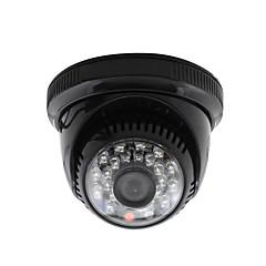 Yanse® cctv ev gözetimi 3.6mm lens ile ir kesim kubbe güvenlik kamerası 24pcs kızılötesi lediler siyah