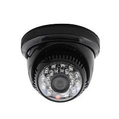 yanse® CCTV kotiin valvonta 3.6mm objektiivi IR Cut Dome valvontakamera 24kpl infrapuna ledien musta