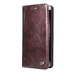 Недорогие Чехлы и кейсы для Huawei Mate-Кейс для Назначение Huawei Бумажник для карт со стендом Флип Чехол Сплошной цвет Твердый Кожа PU для Mate 9 Mate 9 Pro Huawei