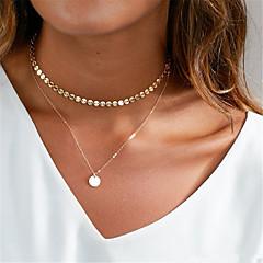 Damskie Naszyjniki choker Y-Naszyjniki Biżuteria Geometric Shape Miedź Wiszący Modny Osobiste euroamerykańskiej Gold Silver Biżuteria Na